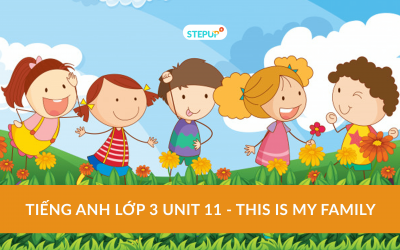 Tiếng Anh lớp 3 unit 11 – This is my family