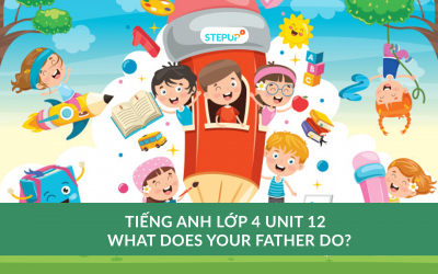 Tiếng Anh lớp 4 unit 12 – What does your father do?